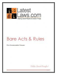 LatestLaws.com LatestLaws.com. Bare Acts & Rules. Free Downloadable Formats. Hello Good People! LaLas