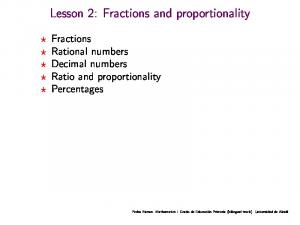 Lesson 2: Fractions and proportionality