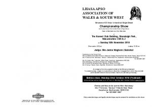 LHASA APSO ASSOCIATION OF WALES & SOUTH WEST