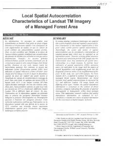 Local Spatial Autocorrelation Characteristics of Landsat TM Imagery of a Managed Forest Area