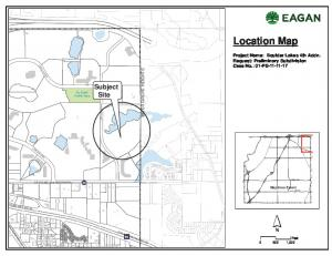 Location Map. Subject Site. Project Name: Boulder Lakes 4th Addn. Request: Preliminary Subdivision Case No.: 01-PS INVER GROVE HEIGHTS