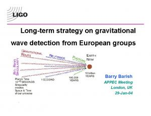 Long-term strategy on gravitational wave detection from European groups