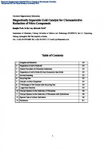 Magnetically Separable Gold Catalyst for Chemoselective Reduction of Nitro Compounds. Table of Contents