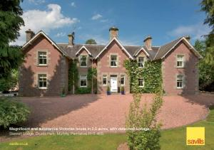 Magnificent and substantial Victorian house in 2.5 acres, with detached cottage Stewart Lodge, Druids Park, Murthly, Perthshire PH1 4ES