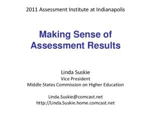 Making Sense of Assessment Results