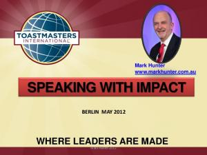 Mark Hunter   SPEAKING WITH IMPACT BERLIN MAY 2012