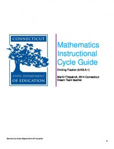 Mathematics Instructional Cycle Guide
