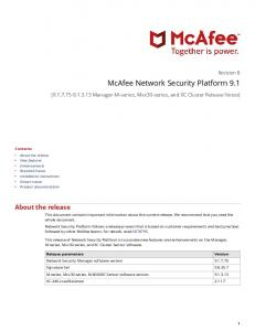 McAfee Network Security Platform 9.1