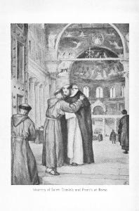 Meeting of Saints Dominic and Francis at Rome