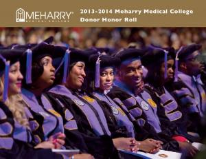 Meharry Medical College Donor Honor Roll