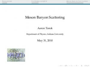 Meson Baryon Scattering