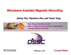 Microwave Assisted Magnetic Recording