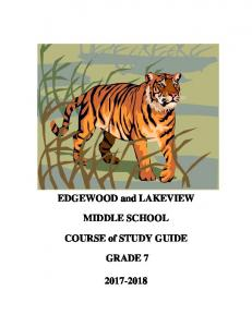 MIDDLE SCHOOL. COURSE of STUDY GUIDE GRADE 7