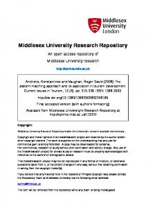 Middlesex University Research Repository