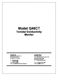 Model Q46CT Toroidal Conductivity Monitor
