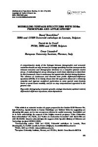 MODELLING VINTAGE STRUCTURES WITH DDEs: PRINCIPLES AND APPLICATIONS*