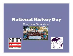 National History Day. Program Overview