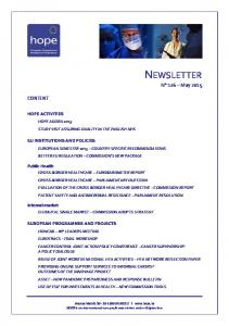 NEWSLETTER N 126 May 2015