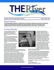 Newsletter of the Theriogenology Foundation
