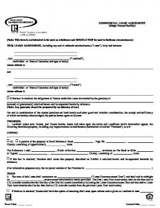 (Note: This form is not intended to be used as a Sublease and SHOULD NOT be used in Sublease circumstances)