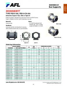 """Notes For Grade Five galvanized steel hardware, add """"-GS5"""" to catalog number. EX: PSD400-7-V-AA-GS5"""