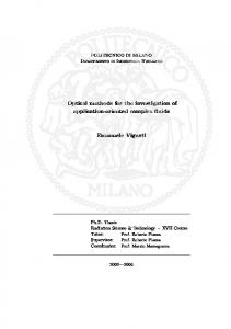 Optical methods for the investigation of application-oriented complex fluids. Emanuele Vignati