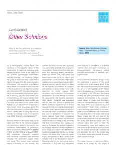 Other Solutions. Carrie Lambert