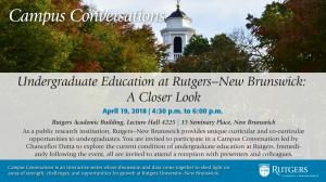 Overview of Undergraduate Education at Rutgers New Brunswick