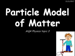 Particle Model of Matter. AQA Physics topic 3