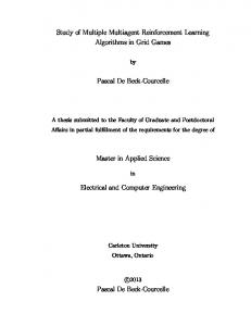Pascal De Beck-Courcelle. Master in Applied Science. Electrical and Computer Engineering
