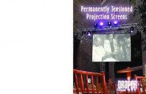 PermanentlyTensioned Screens. Screen Surfaces. Gain Curves. Front Projection. Rear Projection