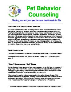 Pet Behavior Counseling