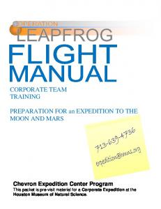 PREPARATION FOR an EXPEDITION TO THE MOON AND MARS
