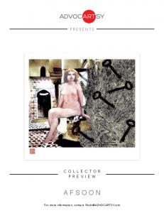PRESENTS COLLECTOR PREVIEW AFSOON. For more information, contact: