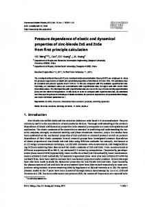Pressure dependence of elastic and dynamical