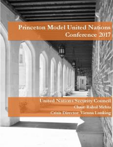 Princeton Model United Nations Conference 2017