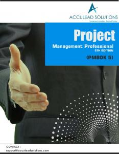 Project. Management Professional 5TH EDITION (PMBOK 5) CONTACT :