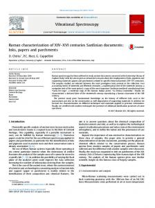 Raman characterization of XIV XVI centuries Sardinian documents: Inks, papers and parchments