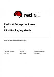 Red Hat Enterprise Linux 7 RPM Packaging Guide