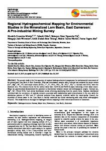 Regional Hydrogeochemical Mapping for Environmental Studies in the Mineralized Lom Basin, East Cameroon: A Pre-industrial Mining Survey
