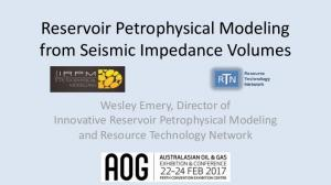 Reservoir Petrophysical Modeling from Seismic Impedance Volumes