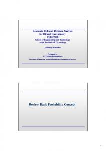 Review Basic Probability Concept