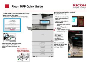 Ricoh MFP Quick Guide