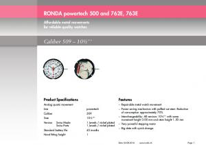 RONDA powertech 500 and 762E, 763E