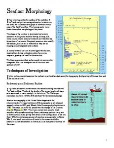 Seafloor Morphology. Techniques of Investigation. Bathymetry and Sediment Studies