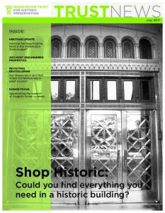 Shop Historic: Could you find everything you need in a historic building? INSIDE: July 2011