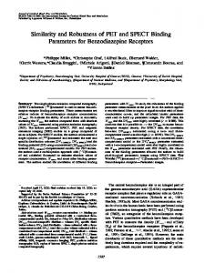 Similarity and Robustness of PET and SPECT Binding Parameters for Benzodiazepine Receptors