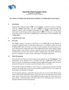 SINGAPORE PRESS HOLDINGS LIMITED (Registration No E) Incorporated in the Republic of Singapore