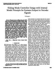 Sliding-Mode Controller Design with Internal Model Principle for Systems Subject to Periodic Signals