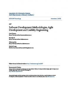 Software Development Methodologies, Agile Development and Usability Engineering